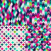 Set of abstract geometric pattern — Stock Vector