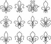 Fleur de lys symbol set — Stock Vector