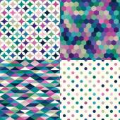 Abstract geometric patterns — Vector de stock