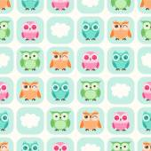 Cartoon owls background — Stock Vector