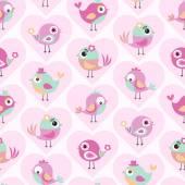 Cartoon  birds pattern — Stock Vector