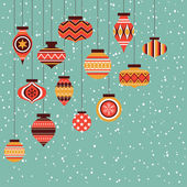 Christmas ornament balls background — Stock Vector