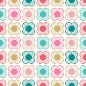 Floral dotted cartoon pattern — Stock Vector
