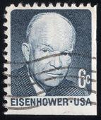Pres. Dwight Eisenhower portresi. Abd posta damgası 1970 — Stok fotoğraf