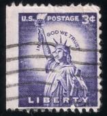 Statue of Liberty. USA post stamp, 1954 — Stock Photo