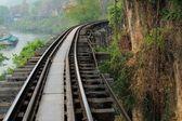Kanchanaburi, Thailand Railroad wood history world war II — Stock Photo