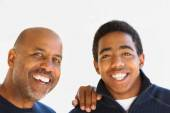 African American Father and Son — Foto de Stock