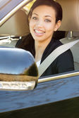 Businesswoman Driving — Fotografia Stock