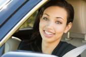 Businesswoman Driving — Stock Photo