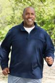Mature African American man exercising — Stock Photo