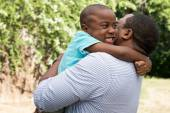 African American father and son — Stock Photo
