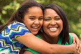 African American mother and daughter — Stock Photo