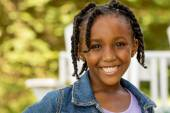 Happy African American little girl — Stock Photo