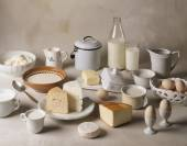 Still life with dairy products — Fotografia Stock