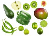 Green vegetables and fruits — Stock Photo