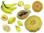 Various yellow fruit — Stock Photo