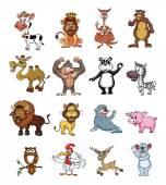 Big set Wild Animal Collection — 图库矢量图片