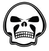 Skull black on white — Stock Vector