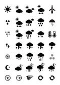 Weather symbols — Stock Vector