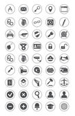 Security icons set — Stock Vector