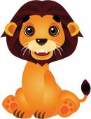 The Cute Lion Vector Cartoon Illustration — Stock Vector