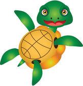 Turtle Cartoon Vector Illustration — 图库矢量图片