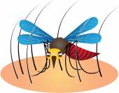 Mosquito Cartoon Vector Illustration — Stock Vector