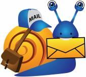 Snail Post Mail — 图库矢量图片
