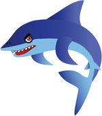 Ilustracja kreskówka rekin — Wektor stockowy