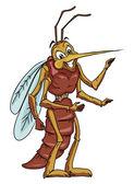 Komár kreslený — Stock vektor