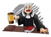 Judge Vector Illustration — 图库矢量图片