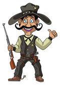 Cowboy Vector Illustration — Stock Vector