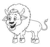 Bison Cartoon Illustration — Stock Vector