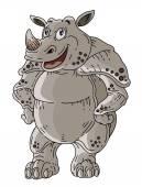 Rhinoceros Cartoon — Stock Vector