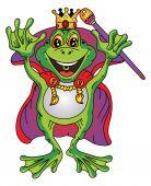 Prince Frog Cartoon — Stock Vector