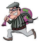 Thief Cartoon — Stock Vector