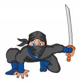 Ninja Cartoon — Stock Vector