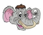 Mammoth head Cartoon — Wektor stockowy