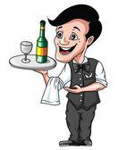 Waiter — Stock Vector