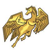 Horse Wings — Stock Vector