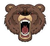 Cabeza del oso — Vector de stock