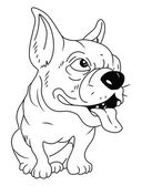 Bull Dog — Stock Vector