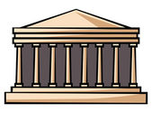 Parthenon greece — Stock Vector