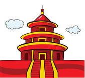 Chinese Temple Pagoda — 图库矢量图片