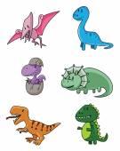Dinosaurus set — Stock Vector