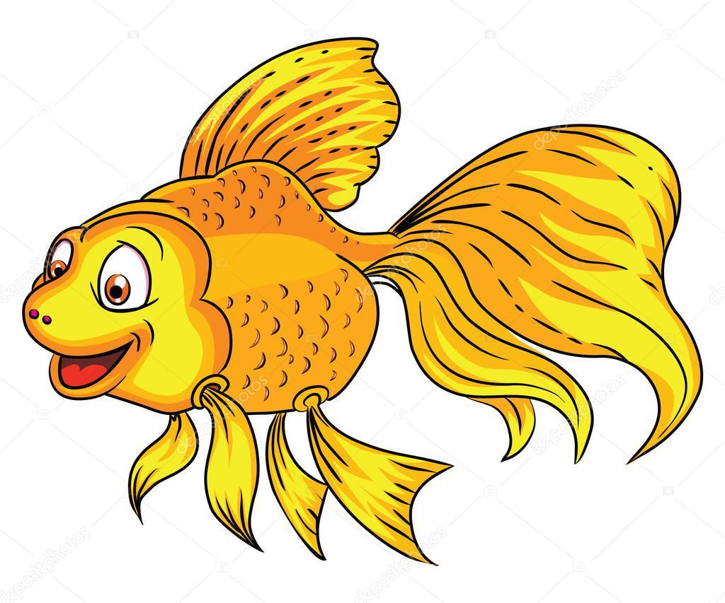 Ilustración De Dibujos Animados De Peces Dorados