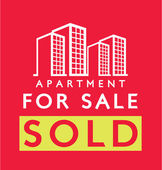 Label design for : Sold Apartment — Stock Vector