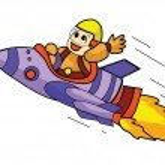 Astronaut Ship — Stock Vector #61741935
