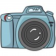 Blue camera dslr camera — Stock Vector #61742209