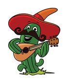 Cactus Mascot — Stock Vector